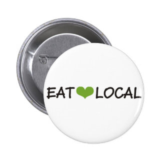 Eat Local 6 Cm Round Badge