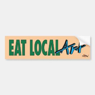 Eat Local ... Art Bumper Sticker Car Bumper Sticker