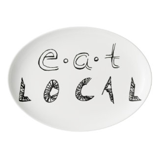 Eat Local Porcelain Serving Platter
