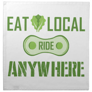 Eat Local, Ride Anywhere Napkin