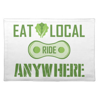 Eat Local, Ride Anywhere Placemat