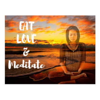 Eat, Love and Meditate Postcards