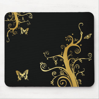 Eat Love Pray - Vines and Butterflies Mouse Pads