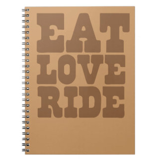 EAT LOVE RIDE Horse riding funny Spiral Note Books