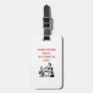 EAT LUGGAGE TAG