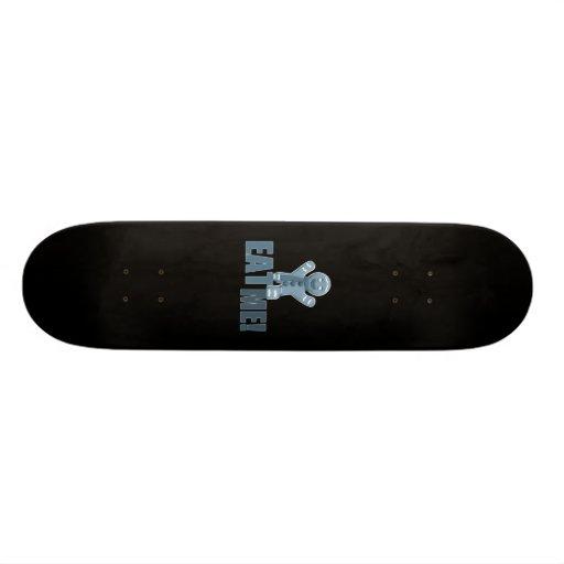 EAT ME! Gingerbread Man - Blue Skateboard Deck