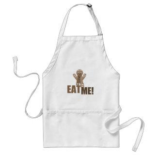 EAT ME! Gingerbread Man - Brown Sepia Aprons