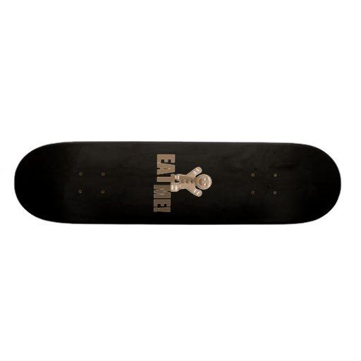EAT ME! Gingerbread Man - Brown Sepia Custom Skateboard
