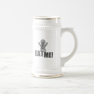 EAT ME Gingerbread Man - Grey B W Coffee Mug
