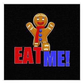 EAT ME Gingerbread Man - Original Colors Custom Invite