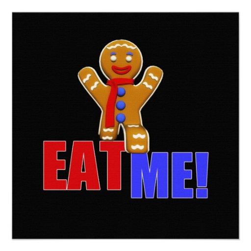 EAT ME! Gingerbread Man - Original Colors Custom Invite