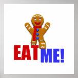 EAT ME! Gingerbread Man - Original Colours Print