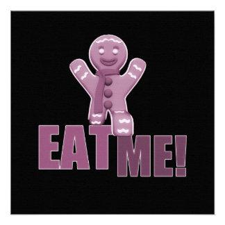 EAT ME Gingerbread Man - Pink Invitation