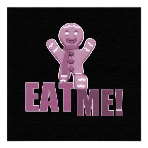 EAT ME! Gingerbread Man - Pink Invitation