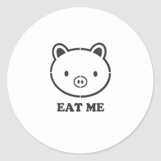 Eat Me Pig Classic Round Sticker