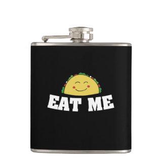 Eat me taco hip flask
