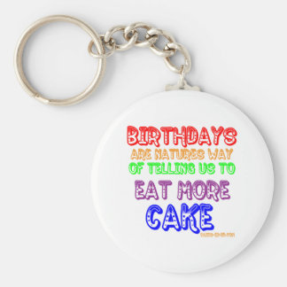 Eat More Cake! Keychain