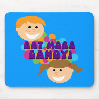Eat More Candy Retro Kids Mouse Pad