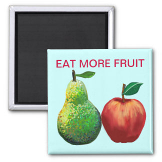 Eat more fruit - apple and pear magnet