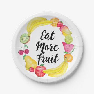 Eat more fruit paper plate