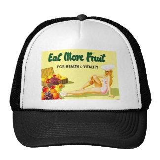 Eat More Fruit - Vintage Advertisement ca 1940s Trucker Hat