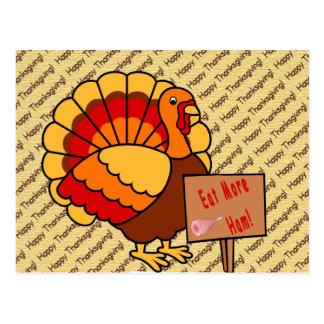 Eat More Ham Postcard
