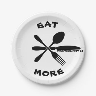 EAT MORE Paper Plates