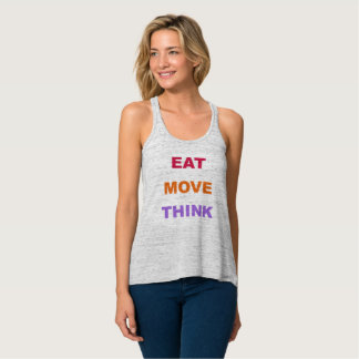 Eat Move Think Flowy Tank Top