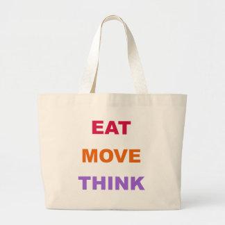 Eat Move Think Jumbo Tote Bag