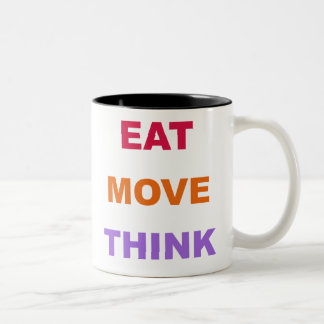 Eat Move Think Mug