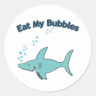 Eat My Bubbles Round Sticker