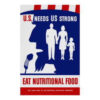 Eat Nutritional Food -- Uncle Sam Poster