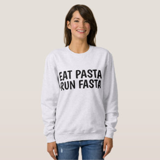 EAT PASTA RUN FASTA funny workout T-shirts