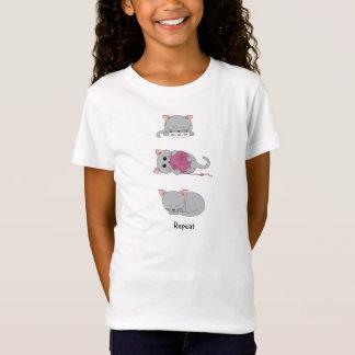 Eat, play, sleep, repeat kitty kids shirt