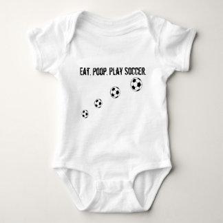 Eat. Poop. Play Soccer. Baby Bodysuit