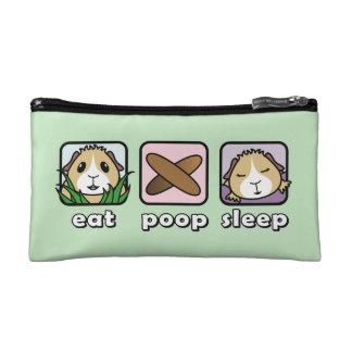 Eat Poop Sleep Guinea Pig Cosmetic Bag
