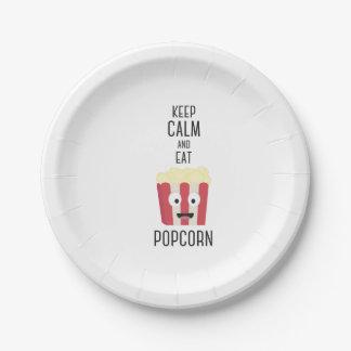 Eat Popcorn Z6pky 7 Inch Paper Plate