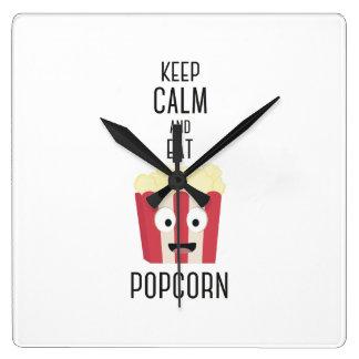 Eat Popcorn Z6pky Clocks