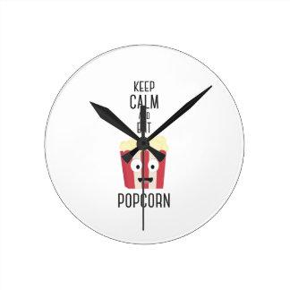 Eat Popcorn Z6pky Round Clock