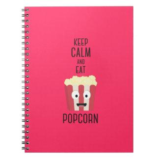 Eat Popcorn Z6pky Spiral Note Book