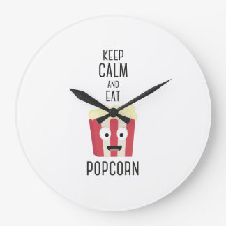 Eat Popcorn Z6pky Wallclocks