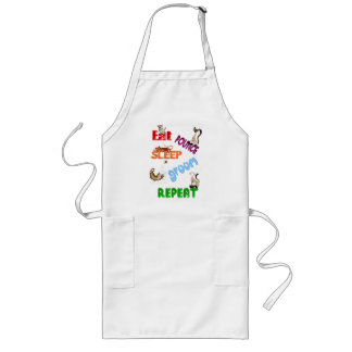 Eat, Pounce, Sleep, Groom, Repeat.. Apron