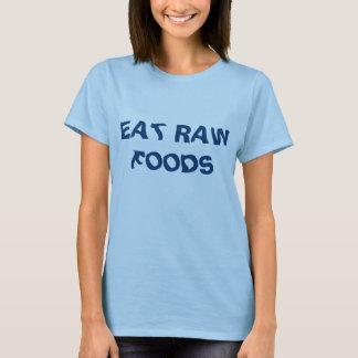 Eat Raw Foods Women's Basic Blue T-Shirt