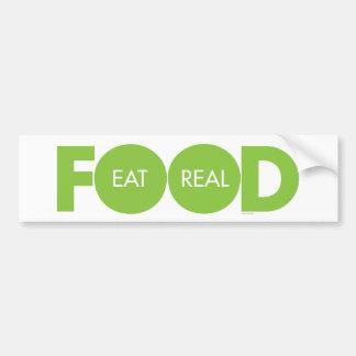 Eat Real Food Bumper Sticker