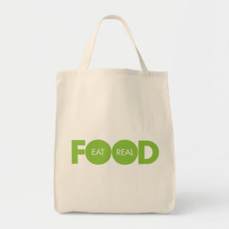 Eat Real Food Tote Bag