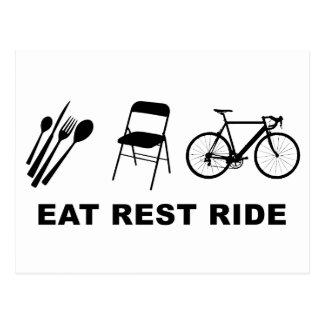 Eat Rest Ride Postcard