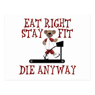 Eat Right - Stay Fit Postcard
