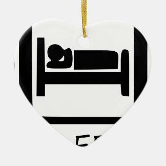 EAT SLEEP17 CERAMIC ORNAMENT