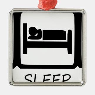 EAT SLEEP17 METAL ORNAMENT