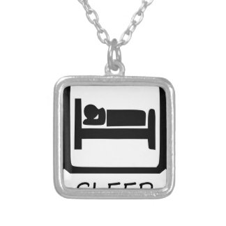 EAT SLEEP27 SILVER PLATED NECKLACE